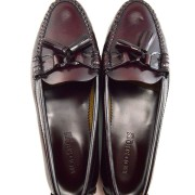 mod shoes ladies leather soled tassel loafer oxblood burgundy LaBelle 11