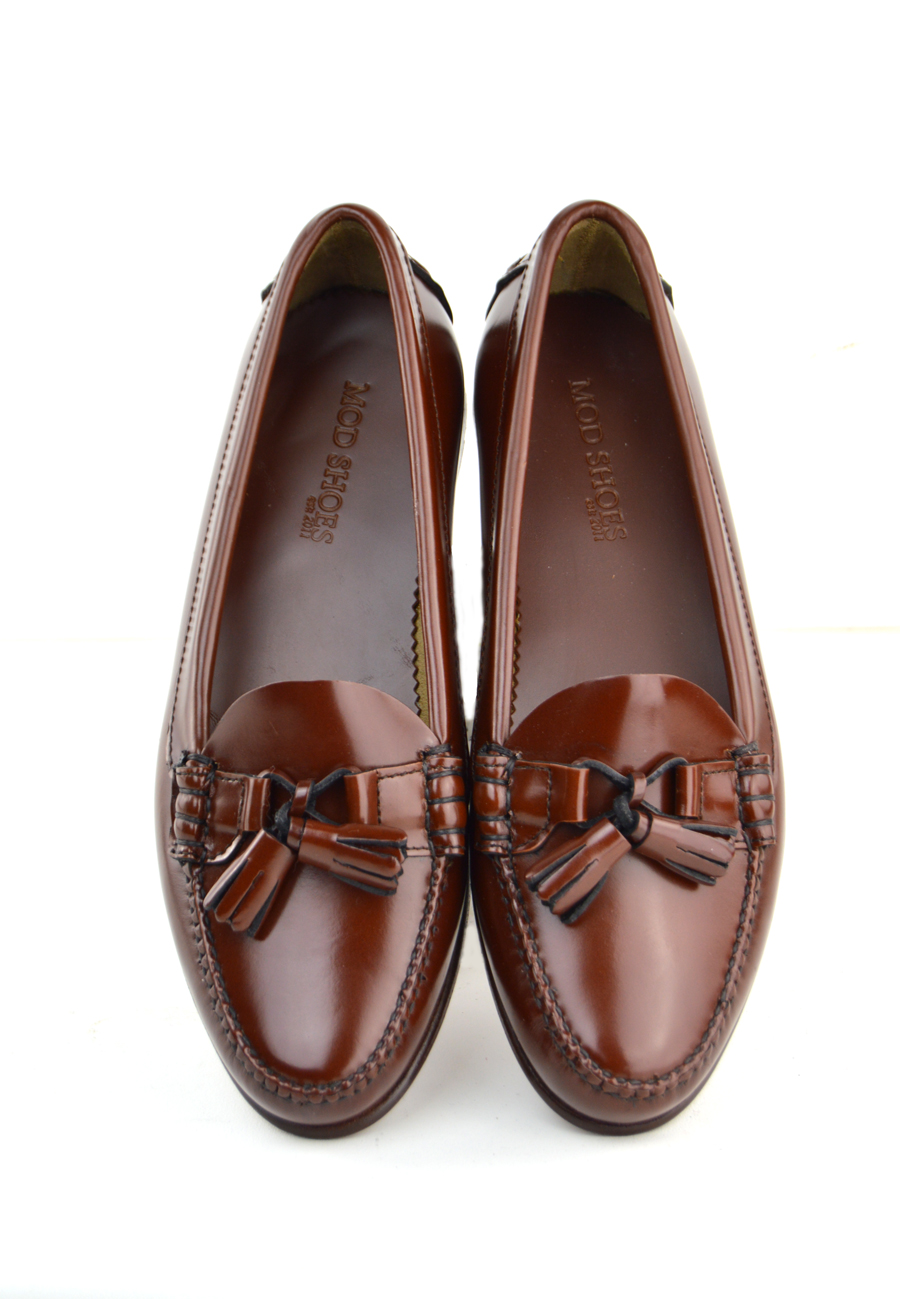 505cb99bb04d Ladies Chestnut Tassel Loafer with Leather Sole – The LaBelles – Mod ...