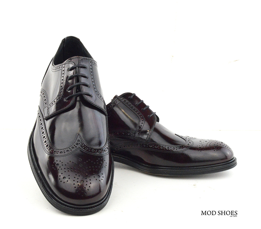 mod shoes oxblood burgundy american style wing tip brogue bridger 01
