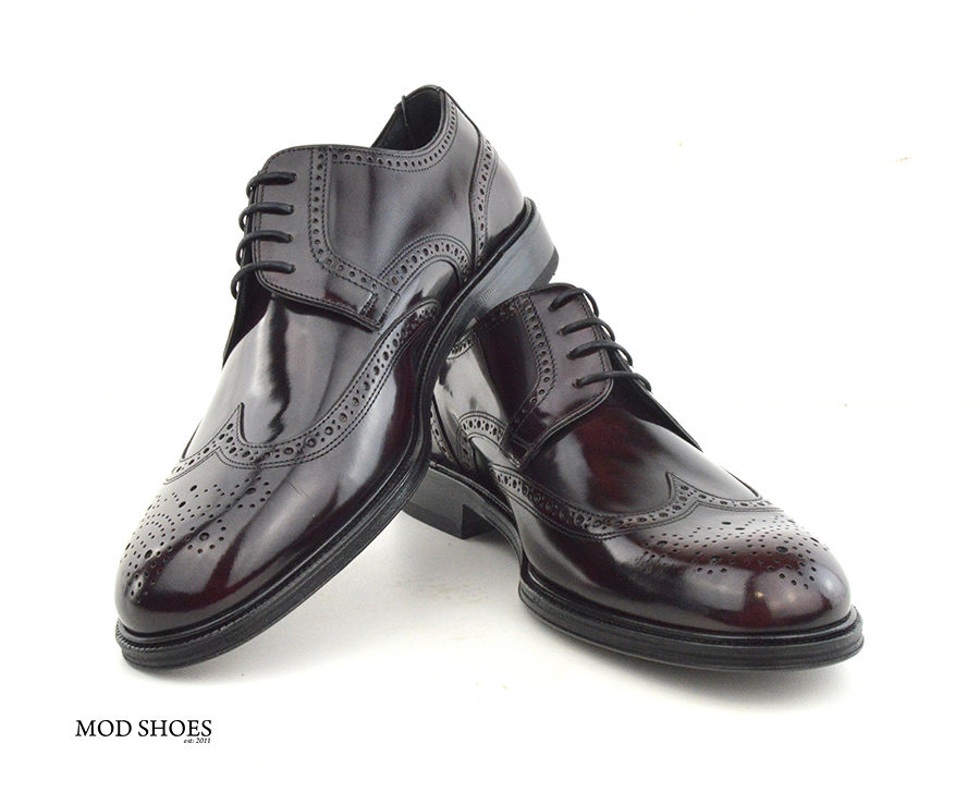 mod shoes oxblood burgundy american style wing tip brogue bridger 03