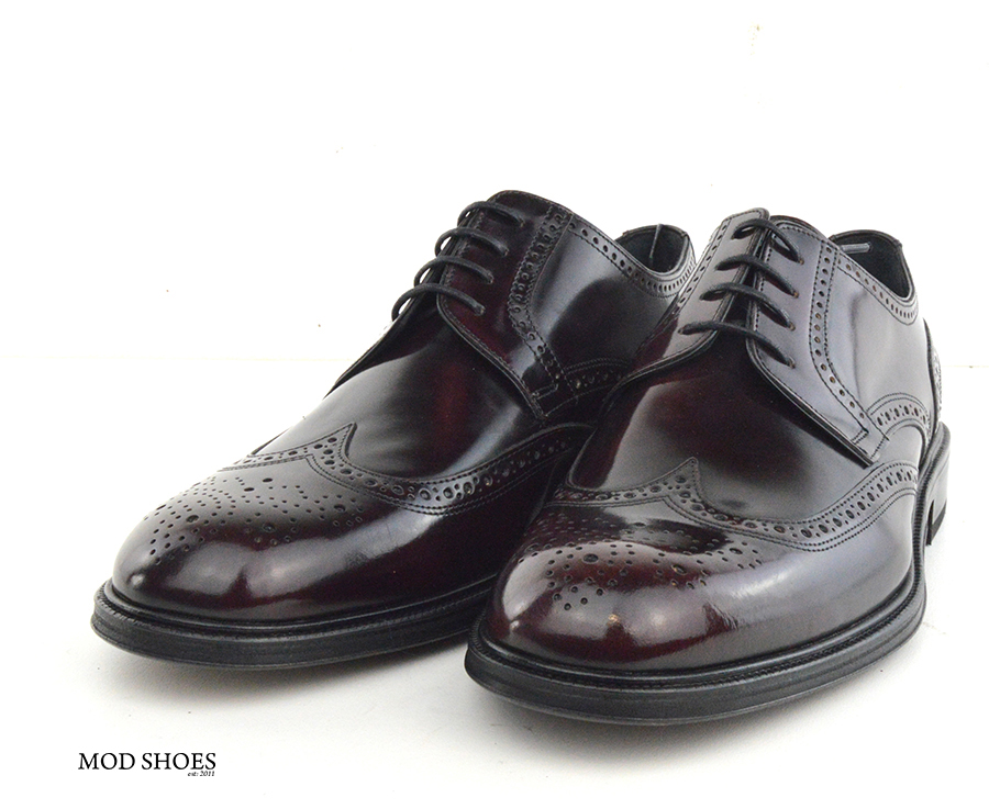 mod shoes oxblood burgundy american style wing tip brogue bridger 04