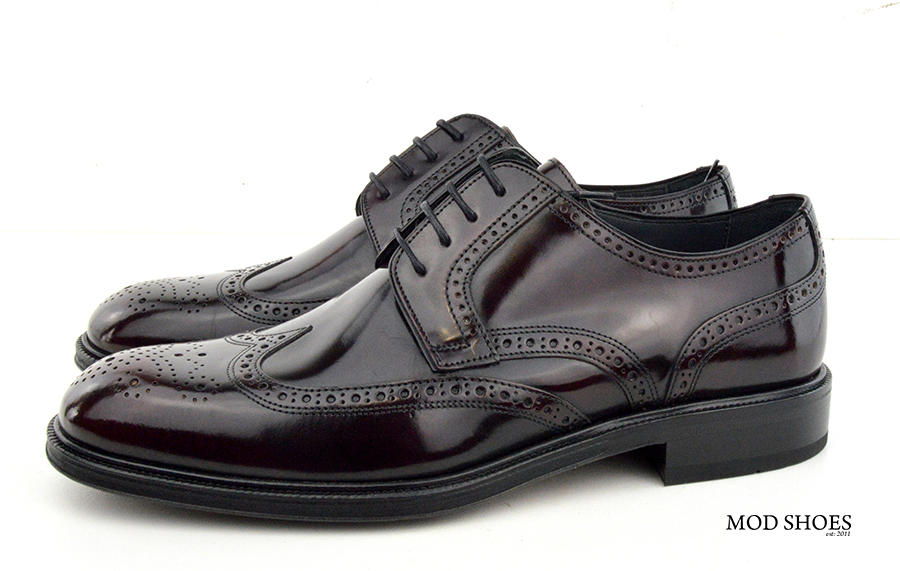 mod shoes oxblood burgundy american style wing tip brogue bridger 05