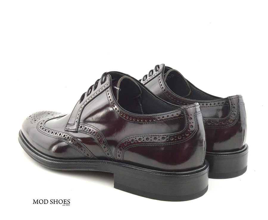 mod shoes oxblood burgundy american style wing tip brogue bridger 06