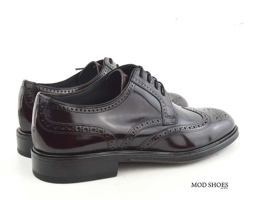 mod shoes oxblood burgundy american style wing tip brogue bridger 08
