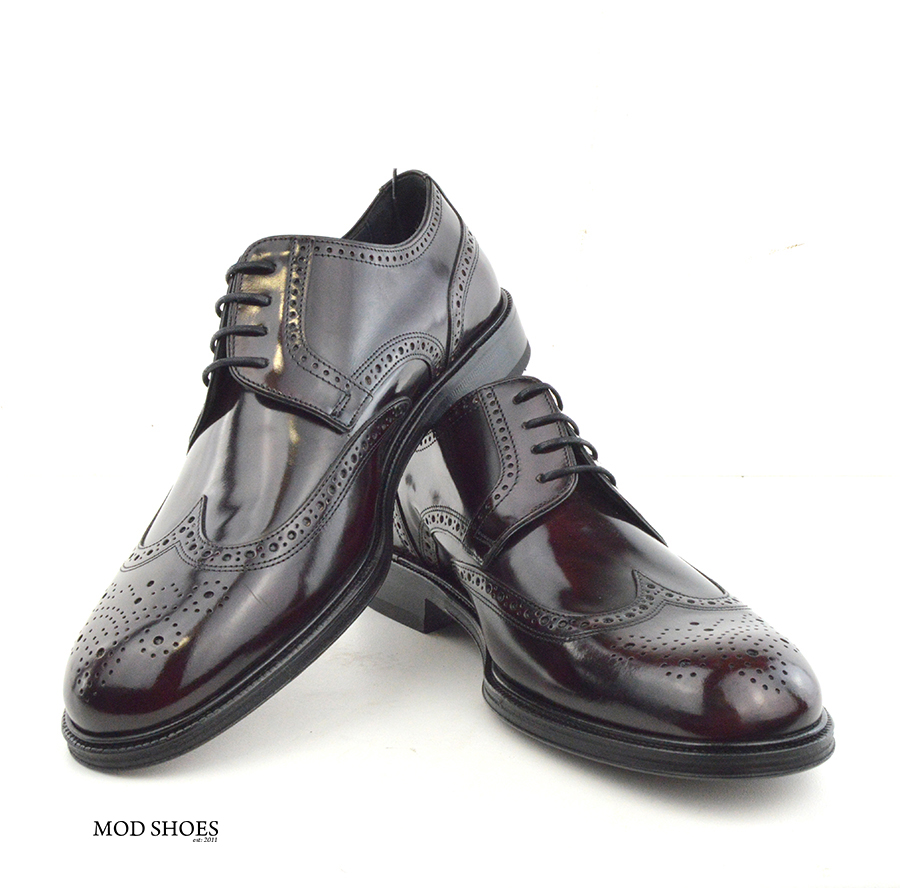mod shoes oxblood burgundy american style wing tip brogue bridger 11