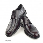 mod shoes oxblood burgundy american style wing tip brogue bridger 12