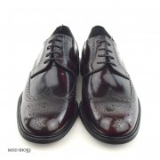 mod shoes oxblood burgundy american style wing tip brogue bridger 13