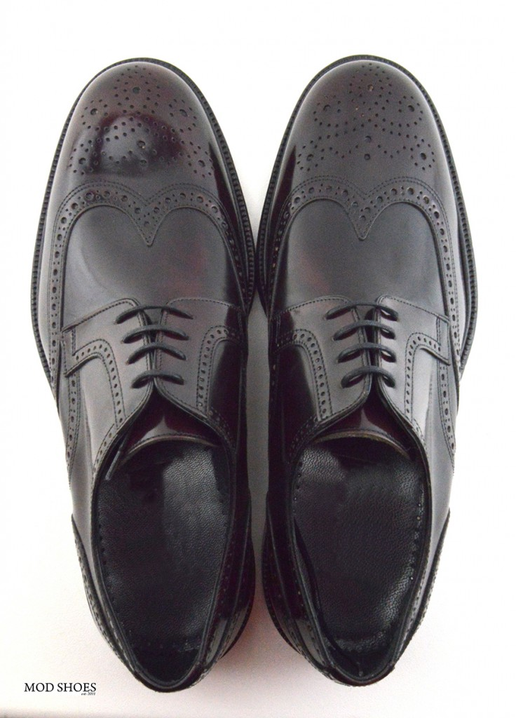 mod shoes oxblood burgundy american style wing tip brogue bridger 14