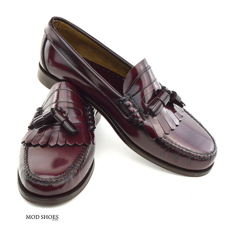 Mens Oxblood Shoes In Leather