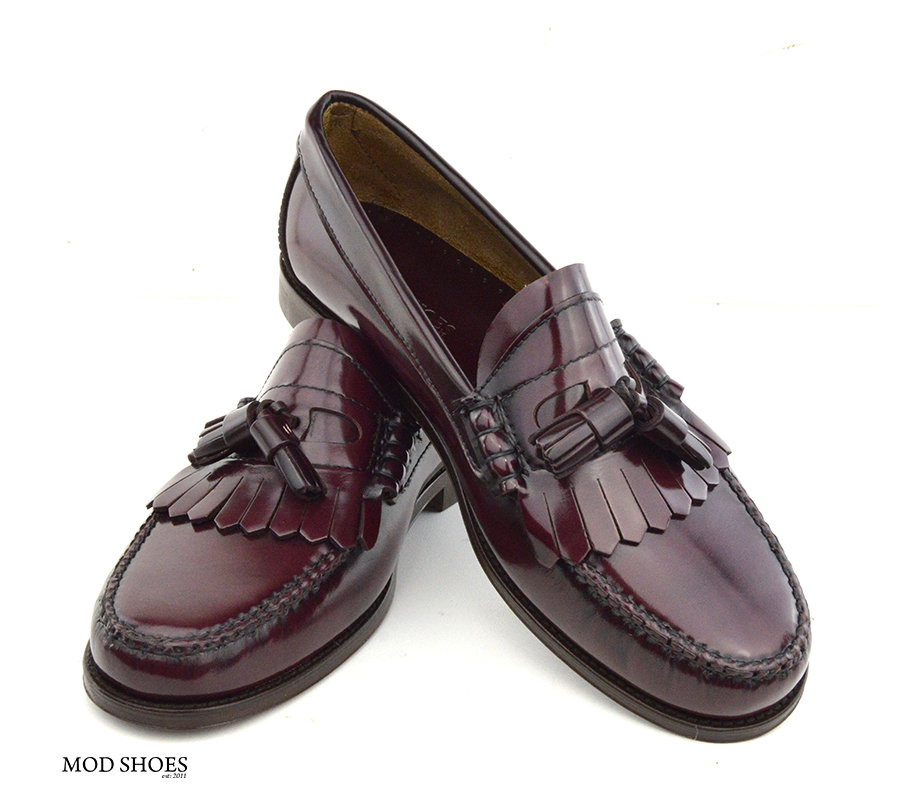 mod shoes oxblood burgundy duke tassel loafer 07
