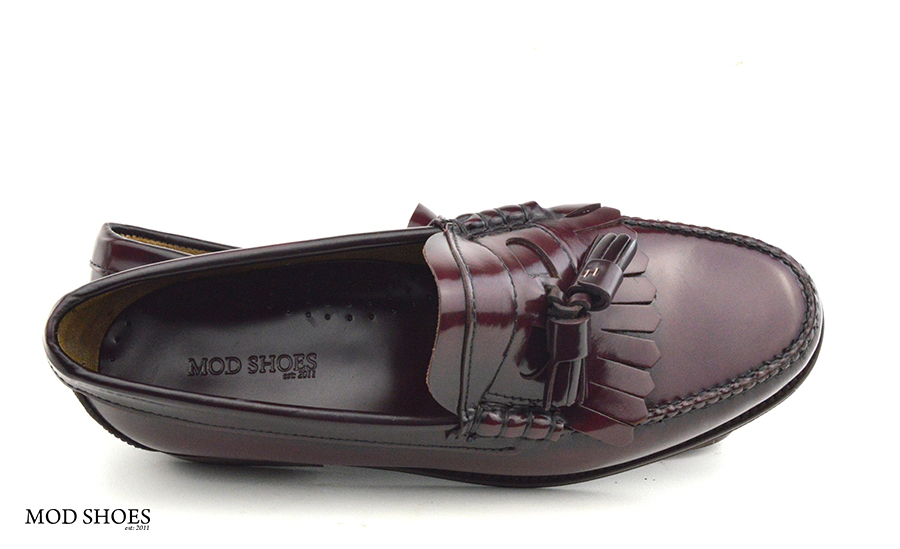 mod shoes oxblood burgundy duke tassel loafer 10