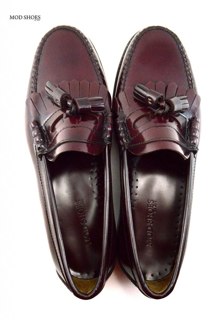 mod shoes oxblood burgundy duke tassel loafer 15