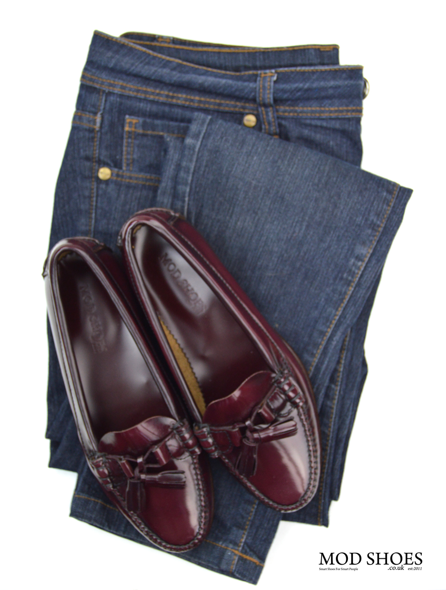 modshoes-labelles-ladies-leather-soled-tassel-loafers-with-jeans-oxblood-01