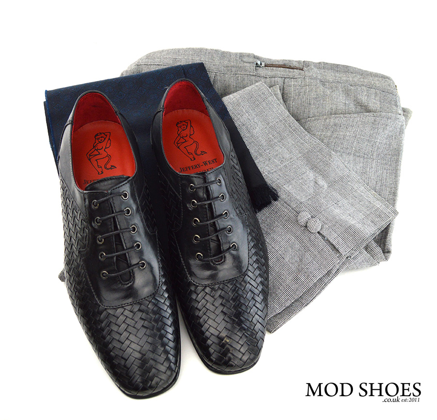 mod-shoes-black-weavers-with-prince-of-wales-trousers