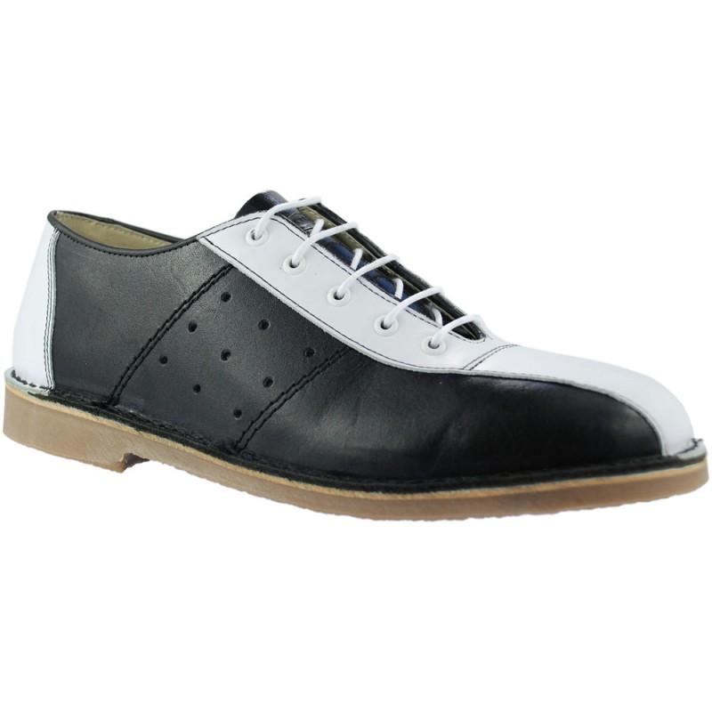 mod shoes bowling shoes black and white ikon 02 mod shoes