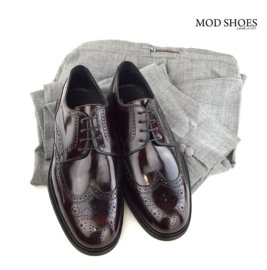 mod-shoes-oxblood-brogues-with-prince-of-wales-trousers