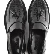 mod shoes basker weave tassel loafers black allnighters 01