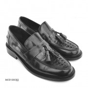 mod shoes basker weave tassel loafers black allnighters  02