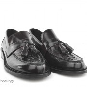 mod shoes basker weave tassel loafers black allnighters 05