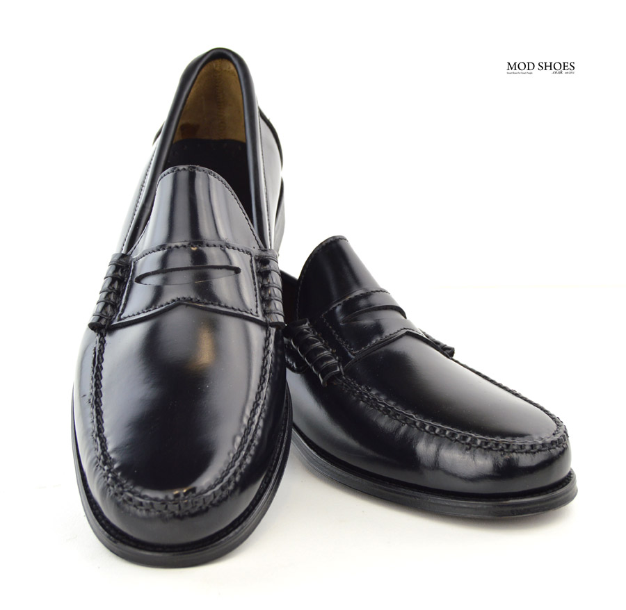 8cbbb408508 Black Penny Loafers – The Earl By Modshoes – Mod Shoes