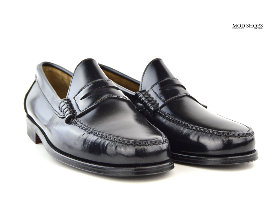 6727ddcca6c Black Penny Loafers – The Earl By Modshoes – Mod Shoes