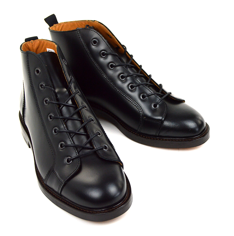 Black Monkey Boots – Leather Sole – Mod