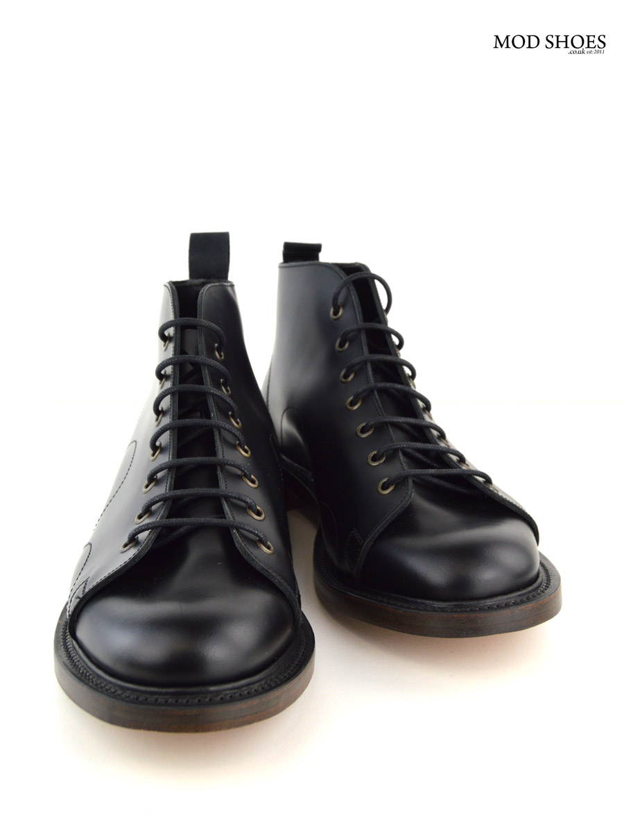 black monkey boots leather sole mod shoes