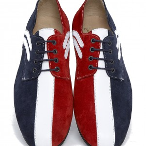 Modshoes jam shoes in red white and blue RIFLE-RWB-1-white