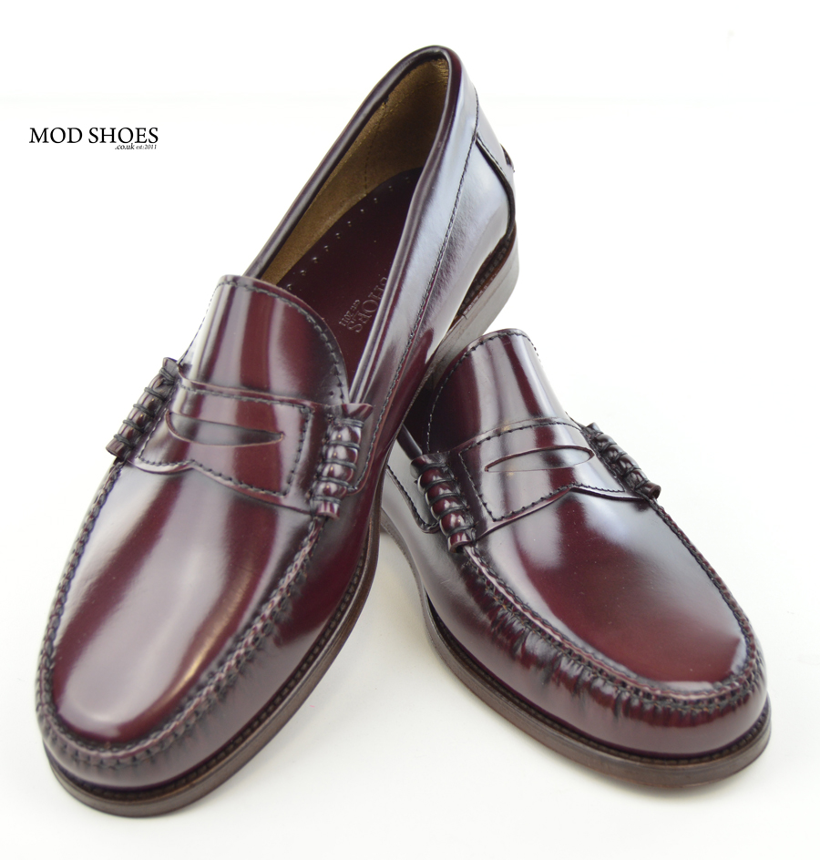 Oxblood Penny Loafers The Earl By Modshoes Mod Shoes