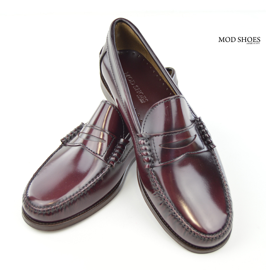 7b0c895b18b14 Oxblood Penny Loafers - The Earl By Modshoes