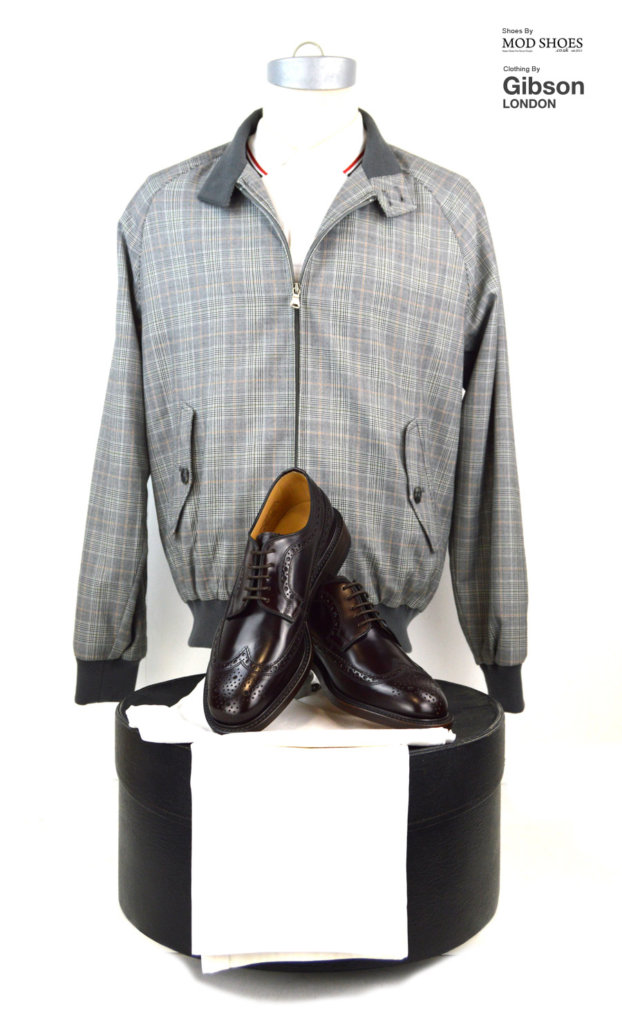 modshoes-loake-toyals-with-harrington-jacket-prince-of-wales-gibson-clothing