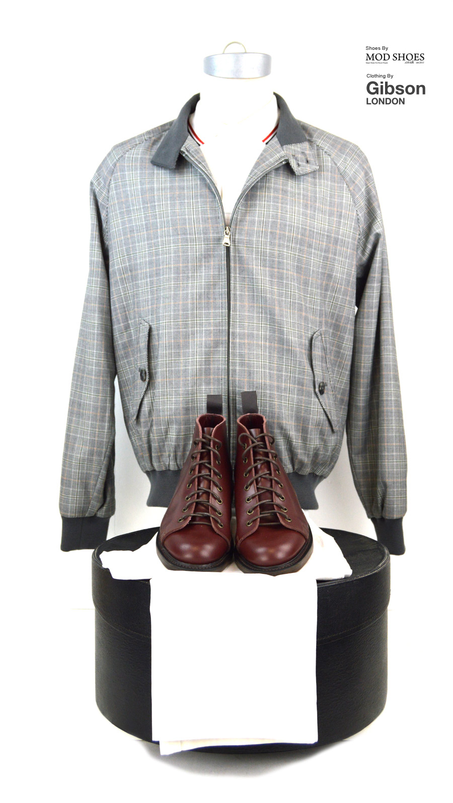 modshoes-oxblood-monkey-boots-with-prince-of-wales-harrington-from-gibson-clothing
