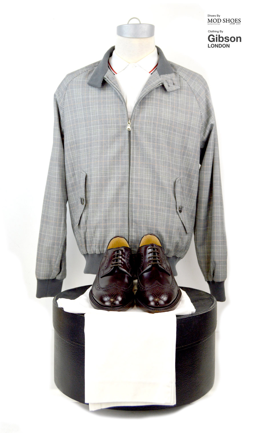 modshoes-oxblood-royals-with-prince-of-wales-harrington-jacket-from-Gibson-clothing