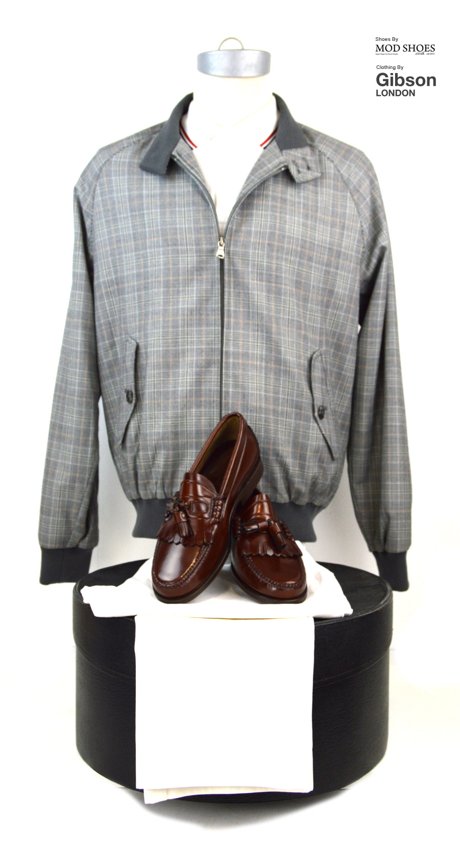 modshoes-prince-of-wales-harrington-with-dukes---Gibson-Clothing