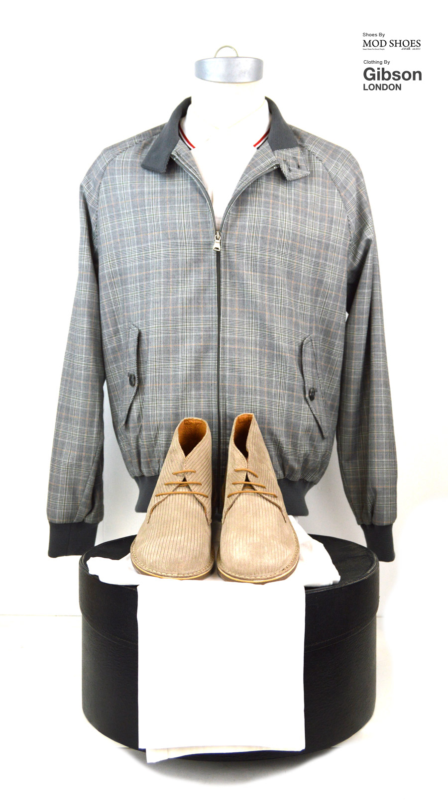 modshoes-stone-prestons-with-prince-of-wales-harrington-from-gibson-clothes