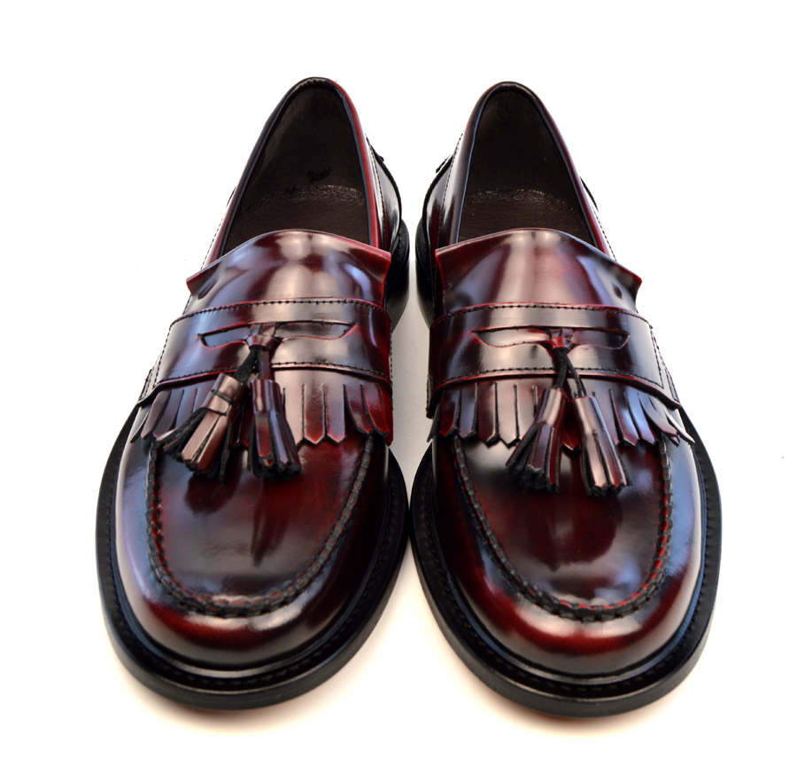 Oxblood Tassel Loafers The Prince Mod Shoes