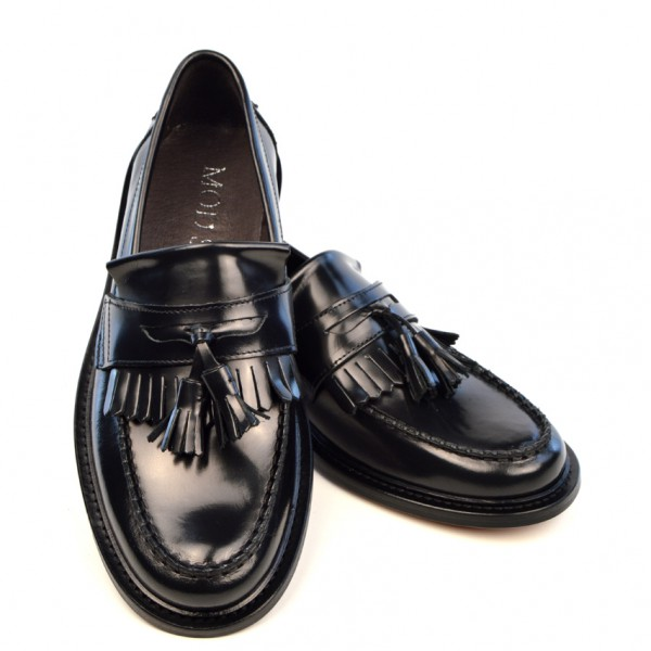 Black Tassel Loafers – The Prince – Mod Shoes