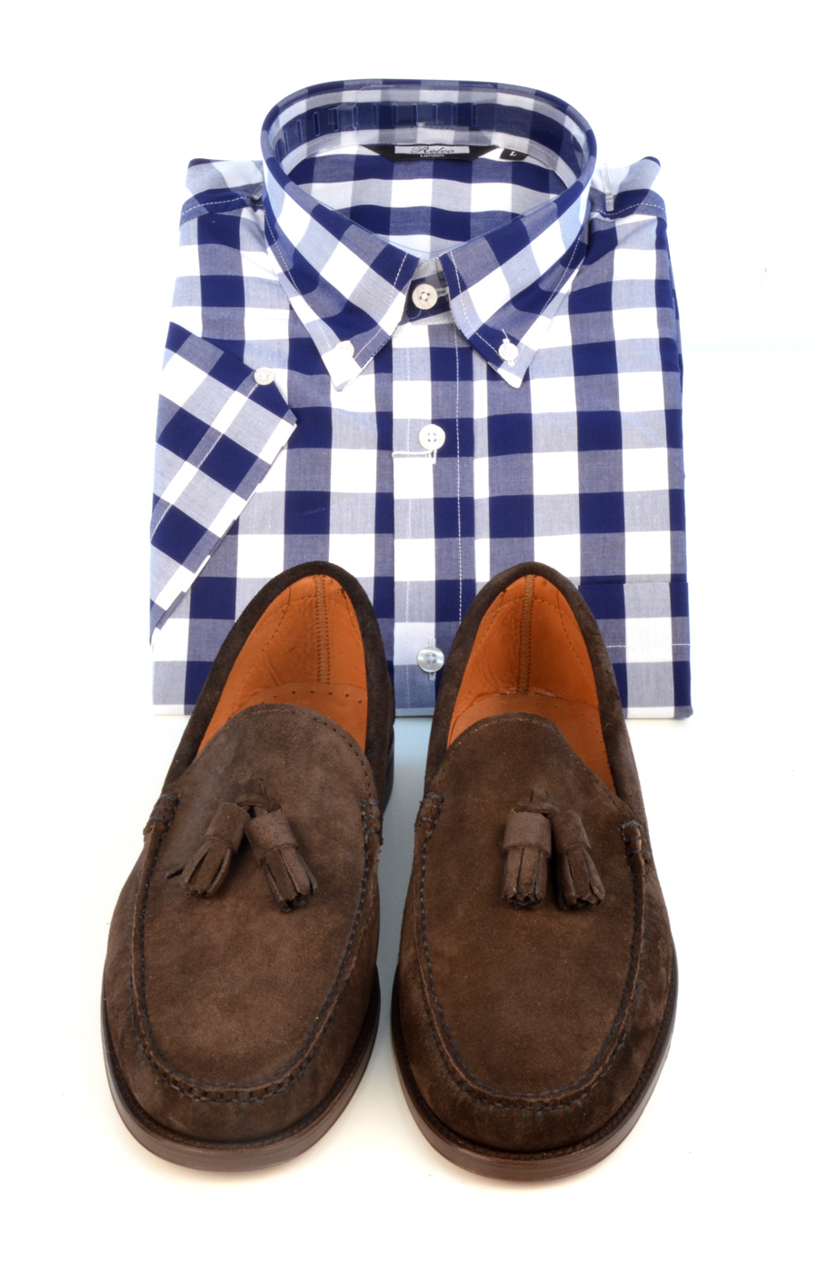modshoes-check-shirt-and-suede-loafers