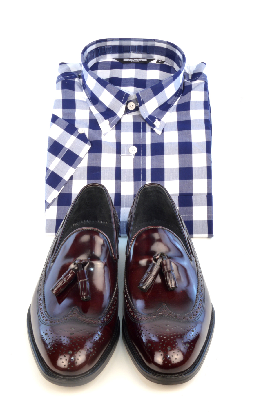 modshoes-check-shirt-with-oxblood-loafer-beckley