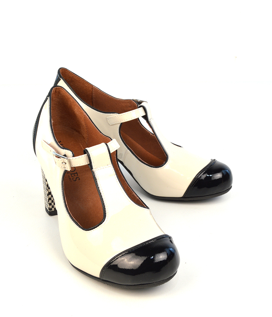 Black And Cream Mod Shoes