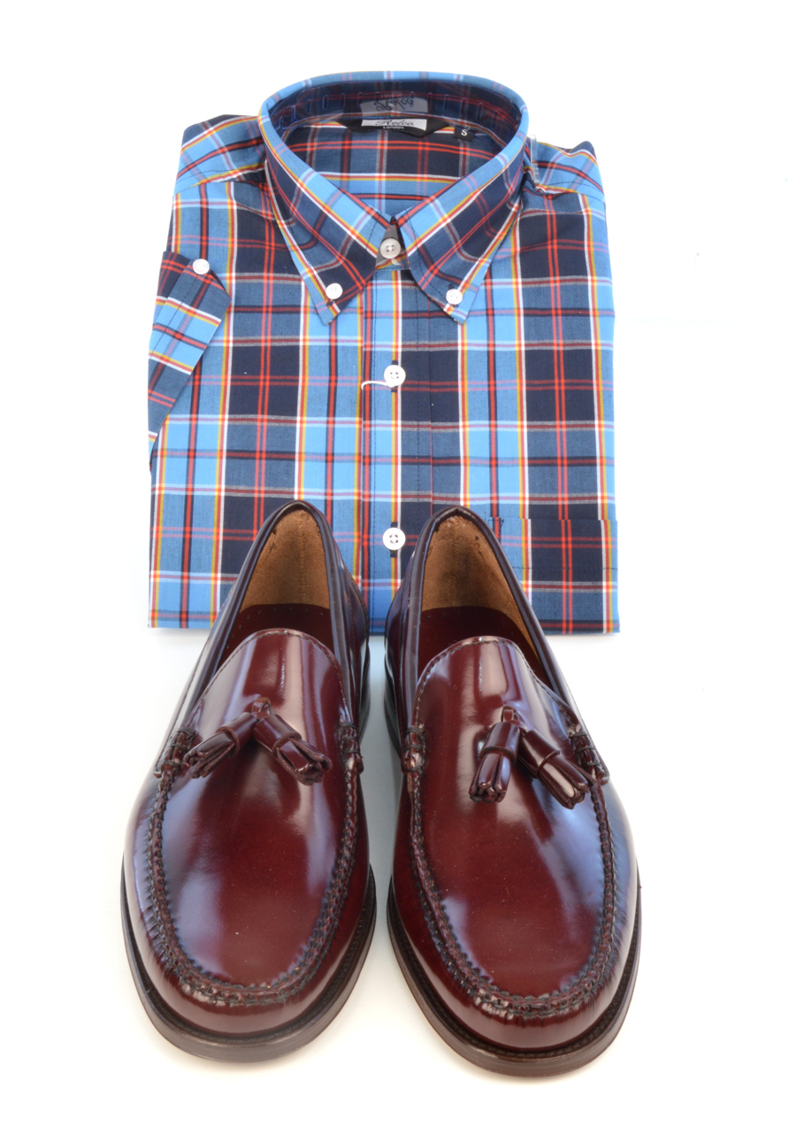 modshoes-lord-oxblood-tassel-loafers-with-check-shirt