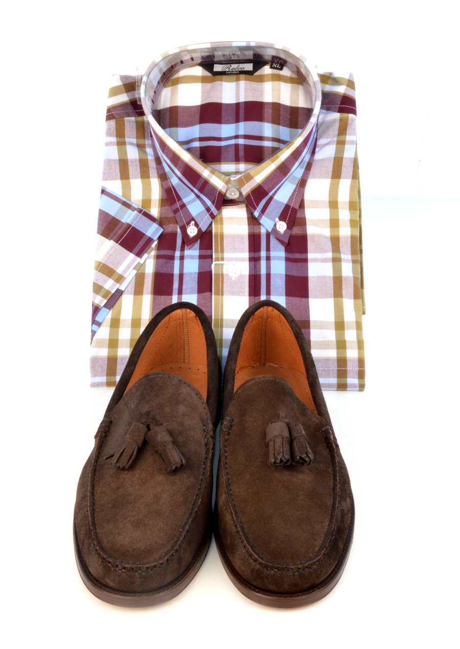modshoes-lord-suede-tassel-loafers-with-check-shirt