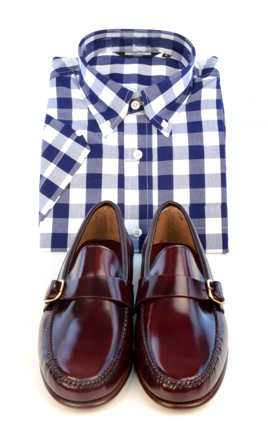 modshoes-oxblood-loafers-with-check-shirt