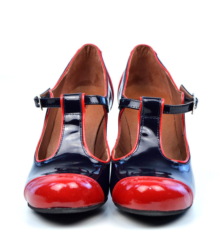 Mens Blue Patent Leather Shoes