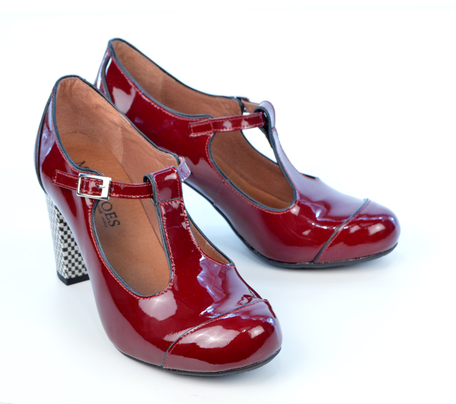 Vintage Red Patent Leather Shoes