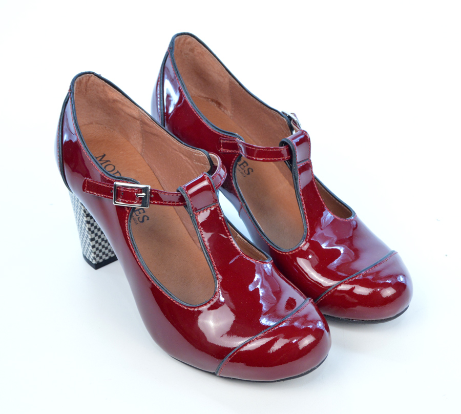 The Dusty In Red Wine / Burgundy Patent