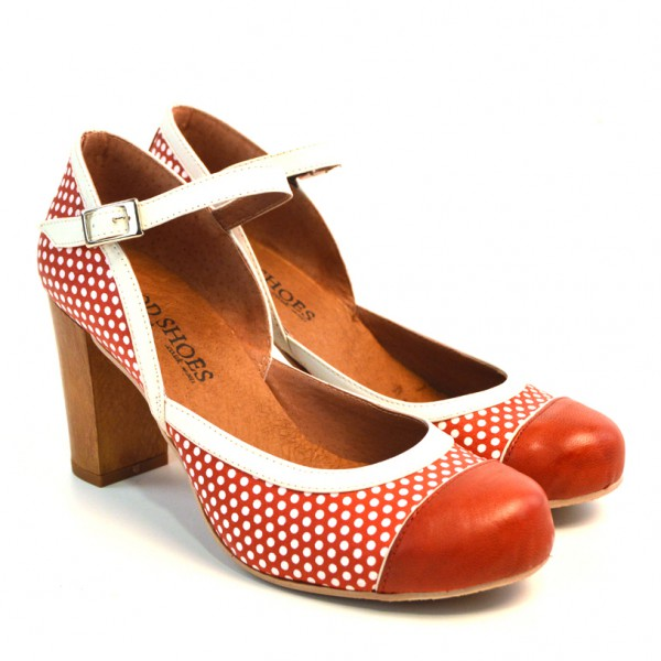 Sizes 2 Amp 5 Only Peggy Sue Red Polka Dotted Leather