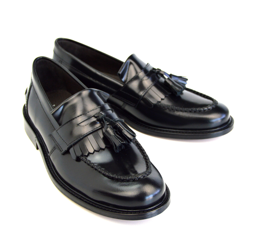 942d439aea1 Ladies Princes – Black Tassel Loafers – Mod Ska Skinhead Style – Mod ...