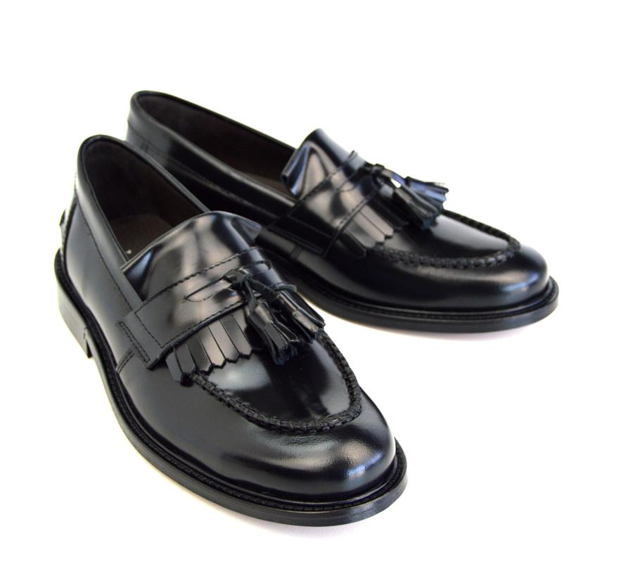 60b0ab2d125 Ladies Princes – Black Tassel Loafers – Mod Ska Skinhead Style – Mod ...