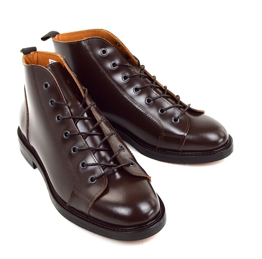 0a55180d9e522 Nut Brown Monkey Boots Version 3 – Leather Sole – Mod Shoes